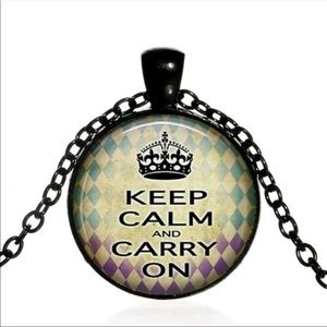 ☆3 for $20! SALE!☆ Keep Calm and Carry On Necklace